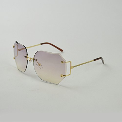 MINCL/2016 HOT RIMLESS SUNGLASSES WOMAN CLEAR LENS (gold, rose)