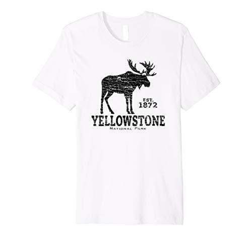 Yellowstone National Park US Adventure Moose Vintage Design Premium T-Shirt