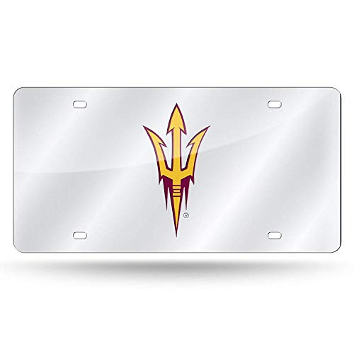 Eletina pig ASU Auto NCAA Laser Inlaid Metal License Plate Tag Silversun Devils License Plate Frame
