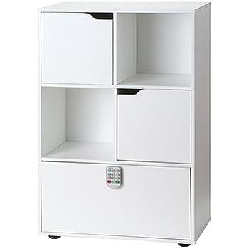 Yak About It Locking Safe Bookshelf - White
