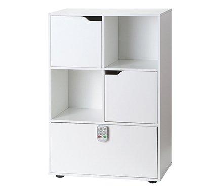 Yak About It Locking Safe Bookshelf - White -