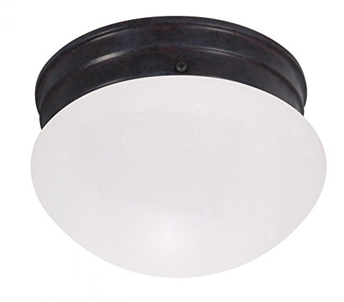 Nuvo Lighting 60/2651 Single Light Small Mushroom Energy Star Flush Mount Ceiling Fixture with Frosted Glass Shade (Flush Energy Star Small)