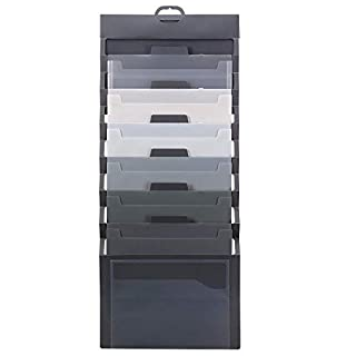Smead Cascading Wall Organizer, 6 Pockets, Letter Size, Gray/Neutral Pockets (92061) (B00H0FJM1G) | Amazon Products