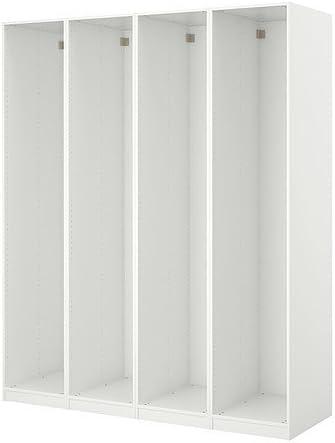 IKEA PAX - 4 estructuras de armario, blanco: Amazon.es: Hogar