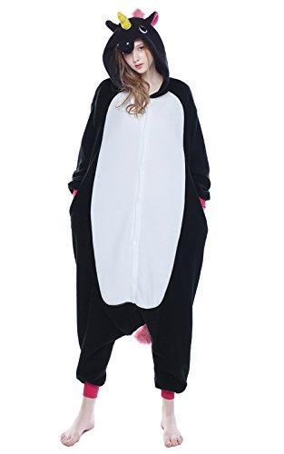 NEWCOSPLAY Unicorn Costume Sleepsuit Adult Onesies Pajamas (XL, Unicorn -