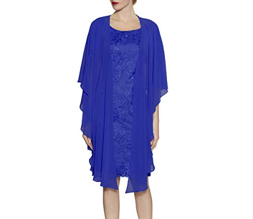 Soft Sheer Chiffon Wraps for Evening Party Long Open Front Wedding Capes Asymmetrical Hem (W02 Royal Blue)]()