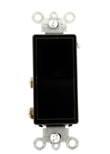 - Leviton 5604-2E 15 Amp, 120/277 Volt, Decora Rocker 4-Way AC Quiet Switch, Residential Grade, Grounding, Black