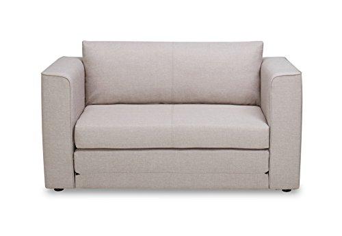 us pride furniture ava modern reversible fabric loveseat u0026 sofa bed light brown