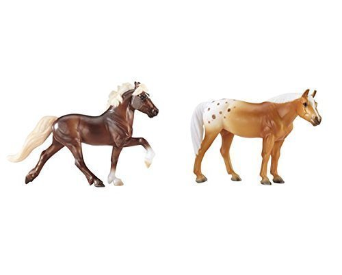 Breyer Foals Fun (Breyer Stablemates Mystery Foal Surprise (Flaxen Chestnut Icelandic Horse and Palomino Blanket Appaloosa))