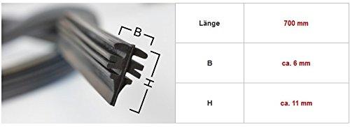 4 gomas de Limpiaparabrisas Universales, para limpiaparabrisas BOSCH Aerotwin 700 mm: Amazon.es: Coche y moto