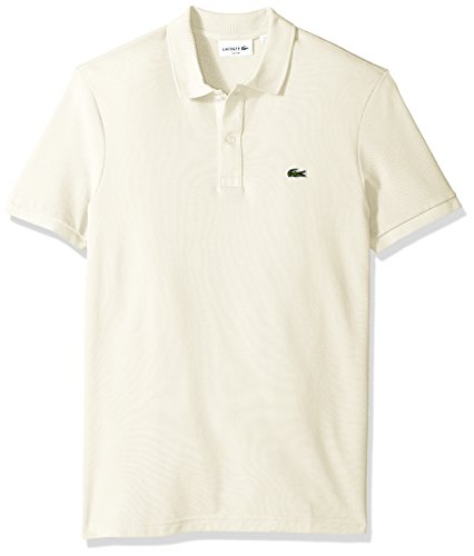 Slim Fit Cream - Lacoste Men's Classic Pique Slim Fit Short Sleeve Polo Shirt, PH4012-51, French Vanilla Cream, Medium