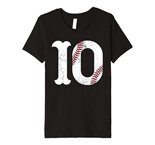 Kids 10th Birthday 2009 Baseball Boys Kids Ten 10 Tenth Gift Premium T-Shirt