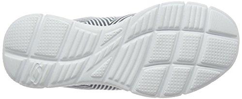 skechers EQUALIZER - EXPECT MIRACLES - Zapatillas de deporte para mujer Blanco (White/Black Wbk)