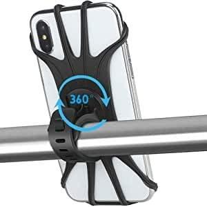 """APSONAR 2020 Nuevo Soporte Movil Bicicleta, Teléfono Soporte para Bicicleta, 360° Rotación Motocicleta Soporte Universal Manillar para 4""""-5.8"""" teléfono Inteligente (B-4): Amazon.es: Electrónica"""
