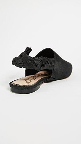 Bailarinas Dupioni Silk Black Negro Edelman Rivers Sam Mujer para qwxfZET8B