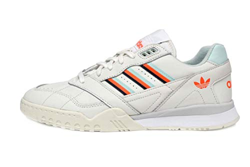 (adidas A.R. Trainer Mens in Cloud White/Ice Mint/Solar Orange, 10.5)