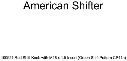 American Shifter 100522 Red Shift Knob with M16 x 1.5 Insert Orange Shift Pattern CP41n
