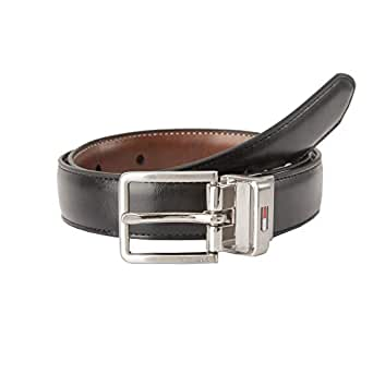 Tommy Hilfiger boys Reversible Dress Belt Belt - black - Small (22-24)
