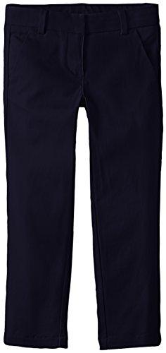 Nautica Girls' Uniform Stretch Twill Skinny Bootcut Pant with Waistband