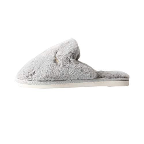 Warm Fur Dimensioni Per Antiscivolo Donna Cute Pan Home Pantofole Da A amp;pan 44 Cotone Winter In D Eur Interni Shoes colore Slippers Couple 43 HwOwYqCx6