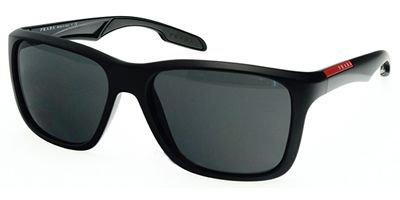 40a4ce1bb8 Prada Sport (Linea Rossa) PS04OS Sunglasses-1BO 1A1 Black Demi Shiny (
