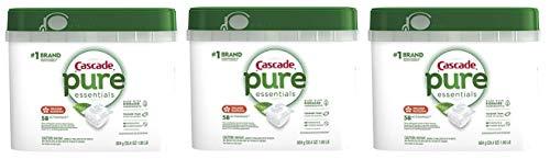 !1 BrandPure Essentials Actionpacs Dishwasher Detergent Bucket, Orange Blossom, 58 Count, 3 Pack