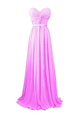 Prom Women's Bridesmaid Evening Dresses Lilac Chiffon Long Fanciest Sweetheart Gowns 4TgxwdnY
