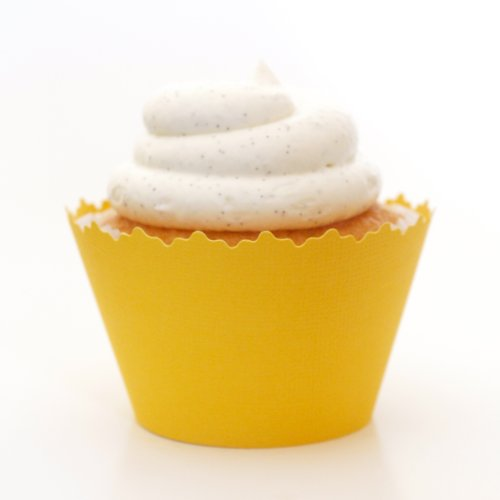 Dandelion Yellow Cupcake Wrappers - Set of 12 - Cup Cake Liner a Great Accessory At Summer Parties, Bridal Showers & Anniversaries -