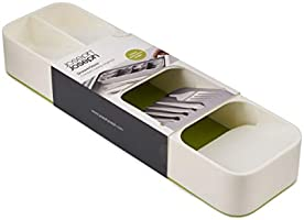 White//Green Joseph Joseph Drawer Store with Cutlery Tray
