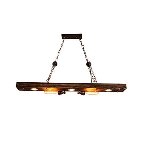 Mutmi Chandelier,Wood Loft Style Industrial Lamp Vintage Wood Pendant Lights Fixtures Bar Coffe Edison Retro Pendant Lamps 120 100 15(cm)
