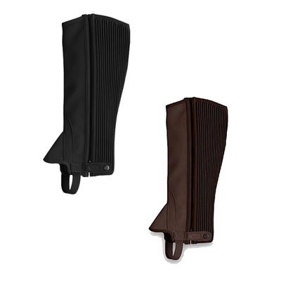 Dublin Easy Care Half Chaps Adult XSmall Brown ()