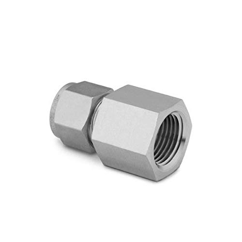 (SWAGELOK SS-400-7-4RT Stainless Steel Swagelok Tube Fitting, Female Connector, 1/4 in. Tube OD x 1/4 in. Female ISO Tapered Thread)