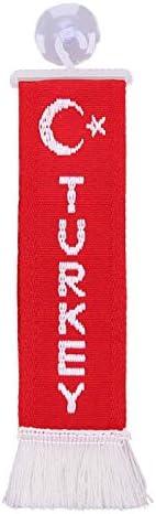TRUCK DUCK/® LKW Voiture Mini Turkey Mini /écharpe Drapeau Drapeau de la Fahenne Miroir D/éco