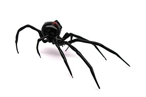 Glass black Widow Figurine Blown Glass Spider hand blown glasses BLACK WIDOW - Glass Spider