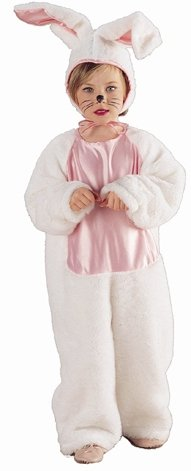 Pink and White Toddler Bunny Costume for Easter