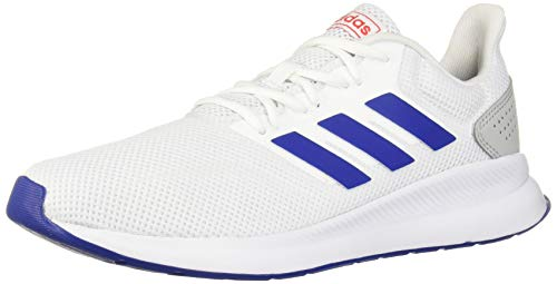 adidas Men's RunFalcon Running Shoe, White/Collegiate Royal/Active Red, 11.5 M ()