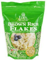Eden Foods Organic Short Grain Brown Rice Flakes Roasted and Rolled 16 oz 454 g by Eden
