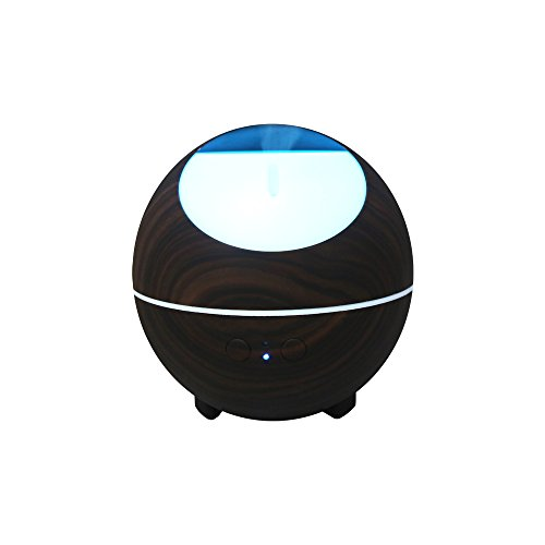 880ML Diffusers for Essential Oils Large Room - Aromatherapy Diffuser Ultrasonic Cool Mist Humidifier with Color LED Lights Changing and Waterless Auto Shut-off for Bedroom Office Home Room (Dark)