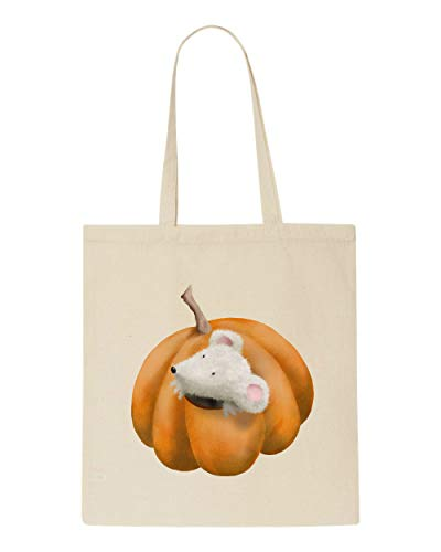 Beige Jack With Two Cute Halloween Mouse Shopper Bag O Character Lantern Watercolour Tote RgCgwqd7