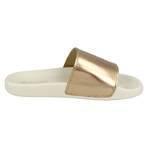 Sandals Casual Slip On Ladies On Gold Spot 1zqvgwP