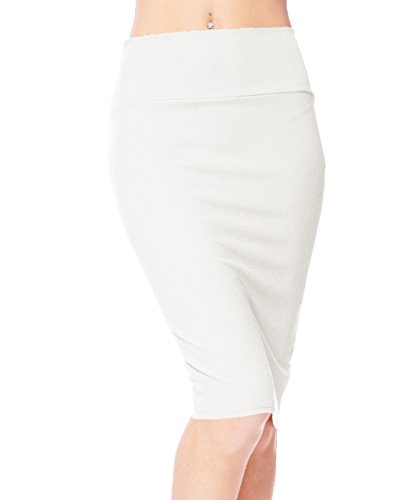 Urban CoCo Women's High Waist Stretch Bodycon Pencil Skirt (L, - Pencil Skirt Linen