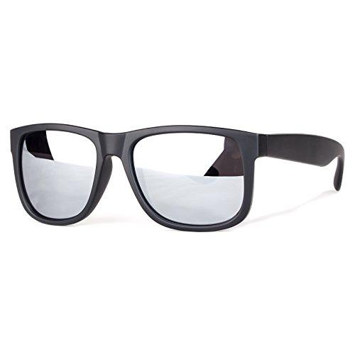 Sunglasses Polarized Unisex, Anti - UV, Silver Mirrored Lens Vintage Driving Sun Glasses for Men and Women (Silver Lens)