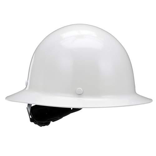 MSA 475408 Skullgard Full Brim Hard Hat, with 4-point Fas-Trac III Suspension, Standard, -