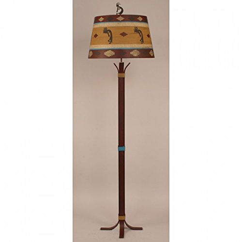 Coast Lamp Manufacturer 12-R47B South Western 4 Foot Floor Lamp with Kokopelli Shade - 64 in. from Coast Lamp Manufacturer