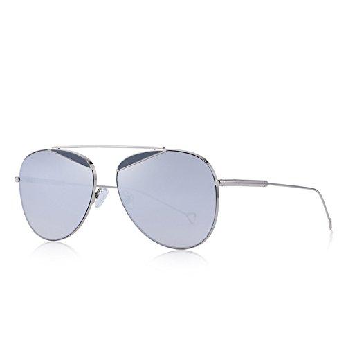 protección TIANLIANG04 C02 Moda de Azul puente sol de C04 Silver UV400 mujeres hombres clásicas piloto gafas único PxrwqA1PB