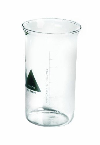American Educational Clear Borosilicate Glass 2000mL Bomex Griffin Beaker (Griffin Bomex Beakers)