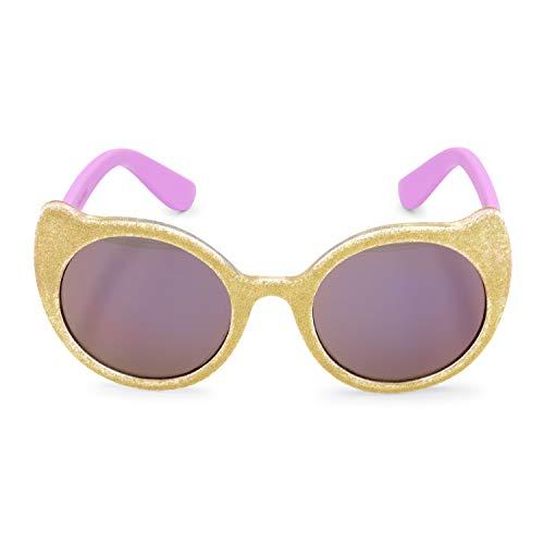 OshKosh B'Gosh Baby Girls Gold Glitter Cat Sunglasses, 0-48 ()