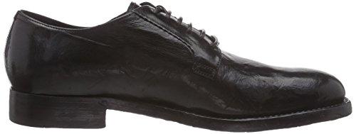 negro con S09241XS15GBVNCCHA Sassetti NERO mujer cuero CHARCOAL de zapatos Silvano Schwarz cordones OHfxF