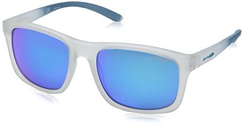 Arnette Men's Complementary Non-Polarized Iridium Square Sunglasses, Matte Crystal, 57 - White Sunglasses Arnette