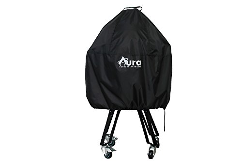 Kamado Cover for Large Big Green Egg, Kamado Joe or any 18in Kamado Grill -  Aura Outdoor Products, AOP-BLVC